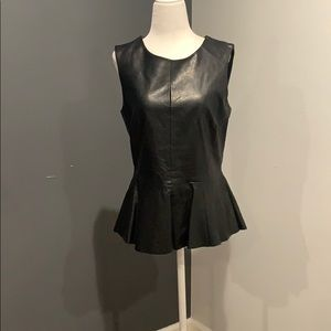 Urban Outfitters Faux Leather Peplum  Top